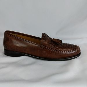 Johnston Murphy 10.5M Brown Woven Loafers S10-14